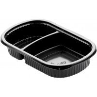 Контейнеры Meal box, прямоугольные, 2-х секц, 500/250мл