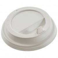 Крышки для стакана 240мл с питейником, белые