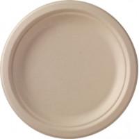 Тарелка из багассы ЭКО круглая 22см крафт