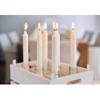 Свечи Прованс, стеарин,  250х22мм, 9 часов горения, белые